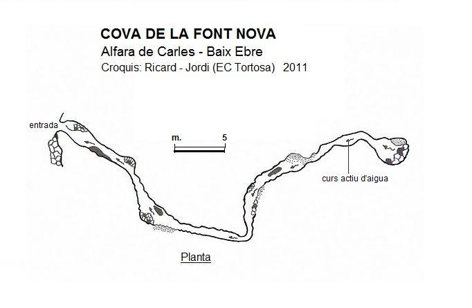 topo Cova de la Font Nova
