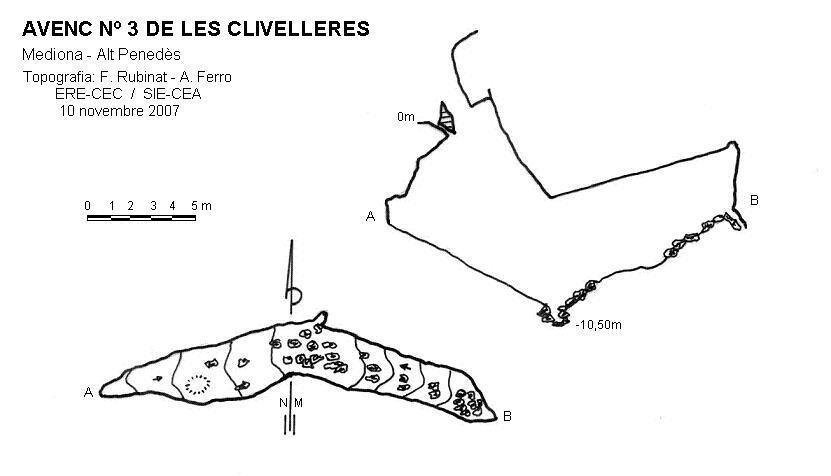 topo Avenc Nº3 de les Clivelleres