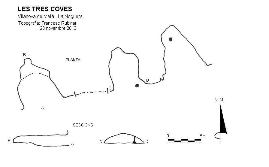 topo les Tres Coves