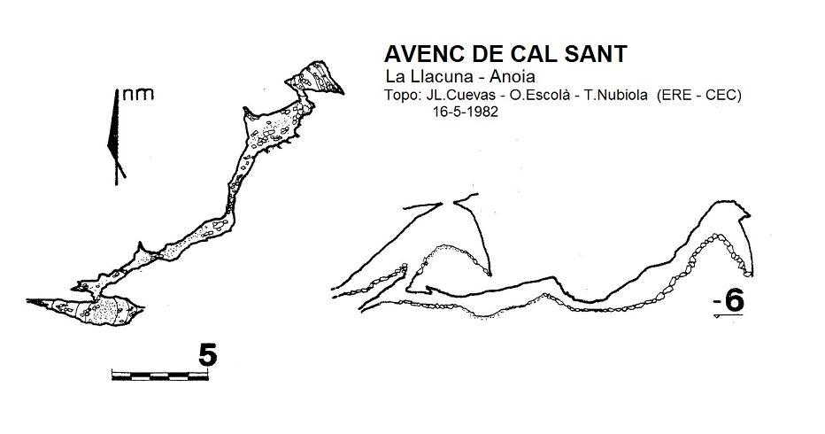 topo Avenc de Cal Sant
