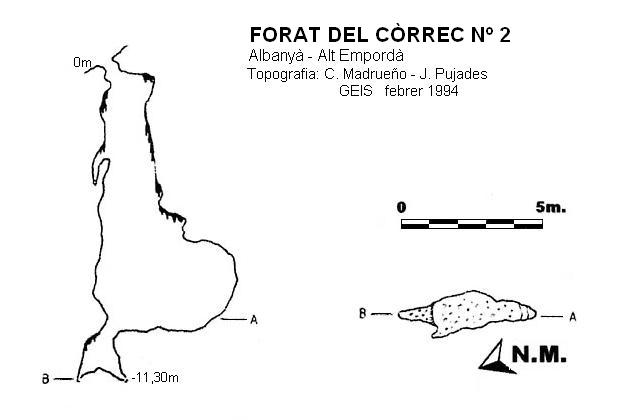 topo Forat del Còrrec Nº2