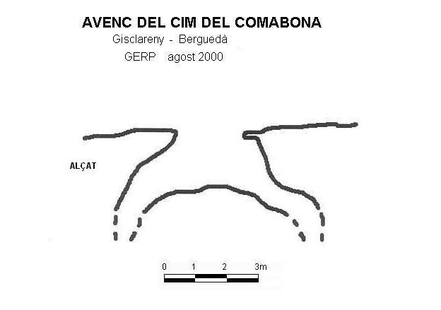 topo Avenc del Cim del Comabona