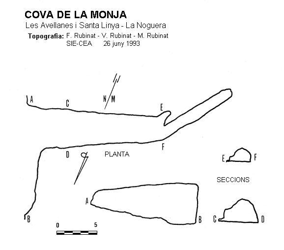 topo Cova de la Monja
