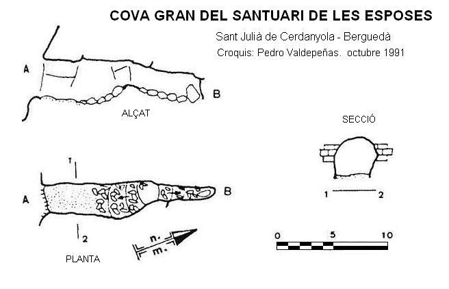 topo Cova Gran del Santuari de les Esposes
