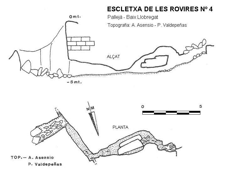 topo Escletxa de les Rovires Nº4