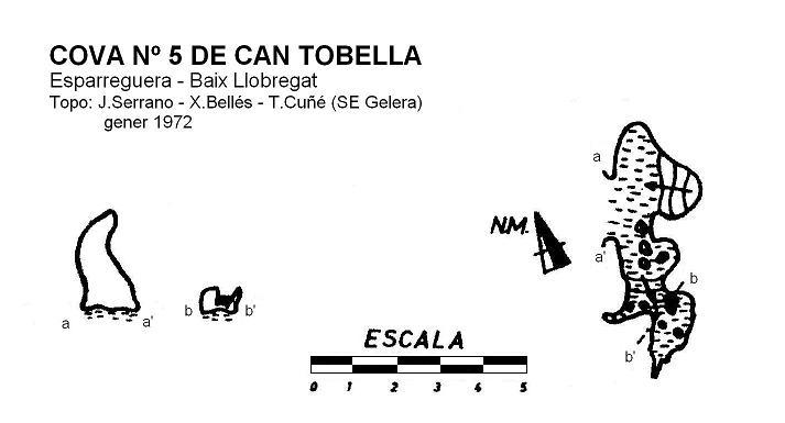 topo Cova Nº5 de Can Tobella