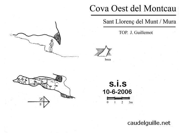topo Cova Oest del Montcau