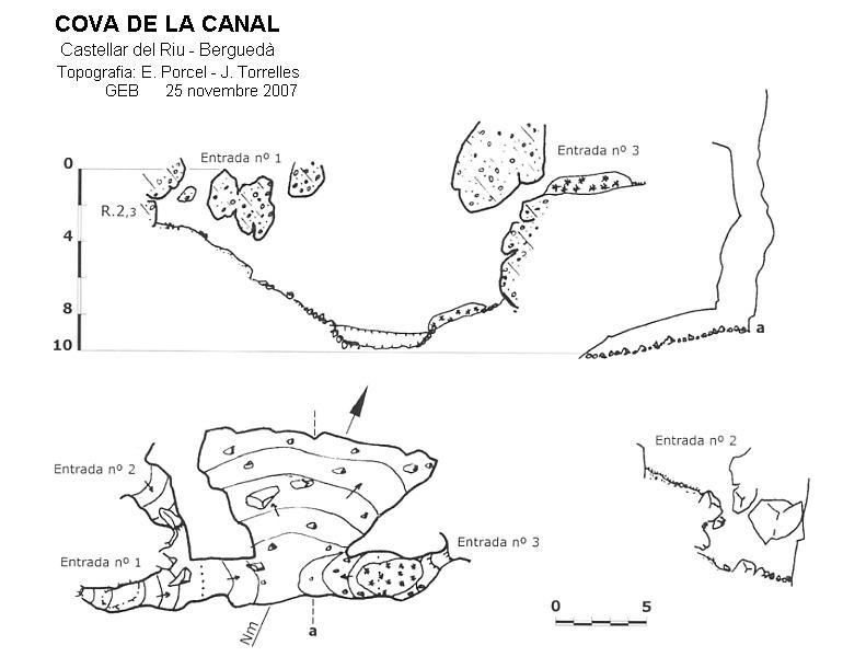 topo Cova de la Canal