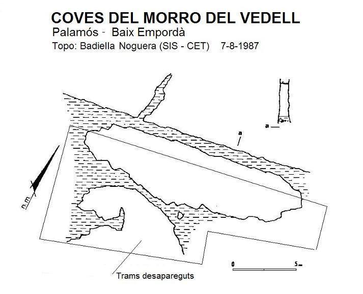 topo Coves del Morro del Vedell