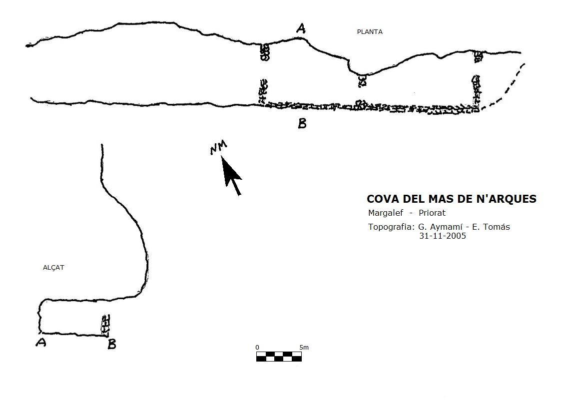 topo Cova de Mas de N'arques
