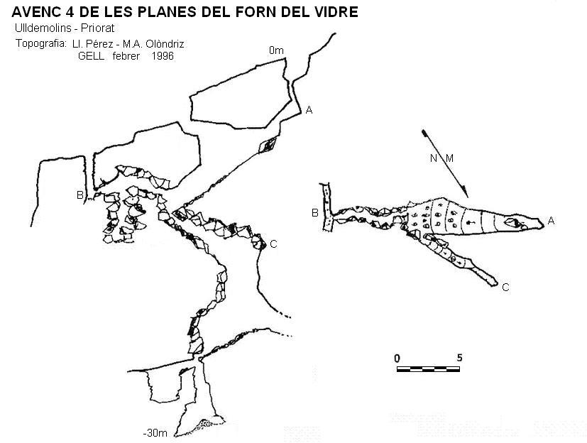 topo Avenc 4 de les Planes del Forn del Vidre