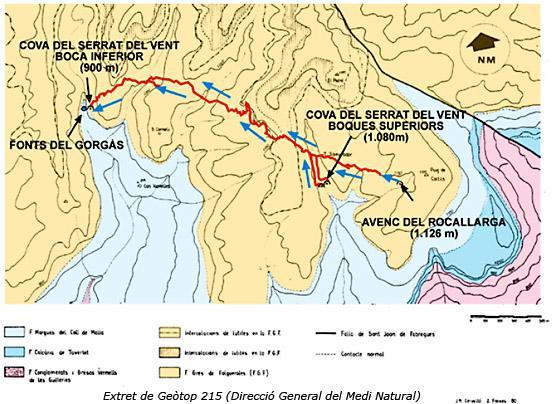 topo Cova del Serrat del Vent