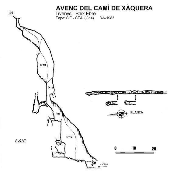 topo Avenc del Camí de Xàquera