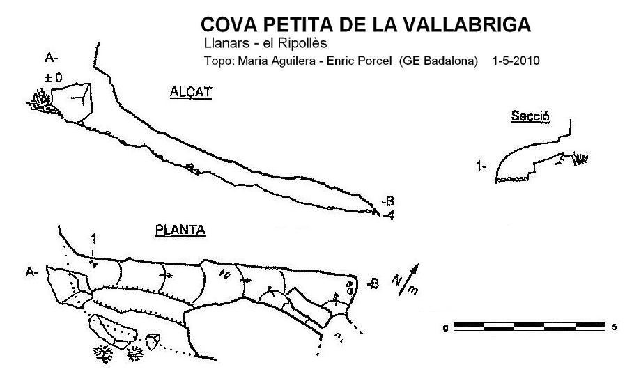 topo Cova Petita de la Bellabriga