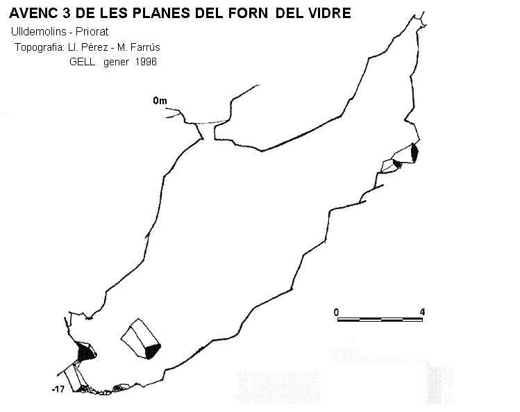 topo Avenc 3 de les Planes del Forn del Vidre