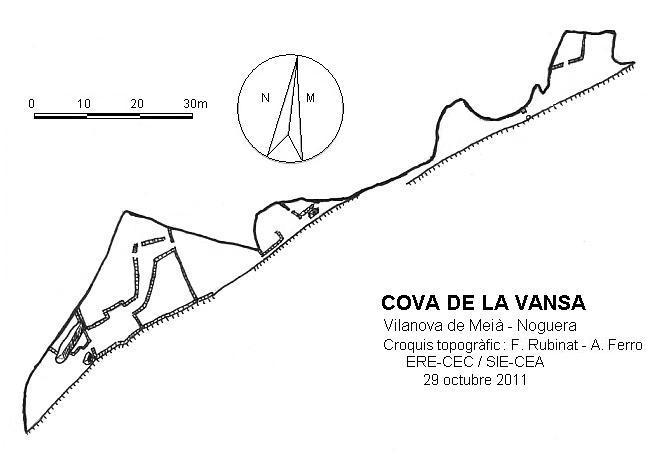 topo Cova de la Vansa