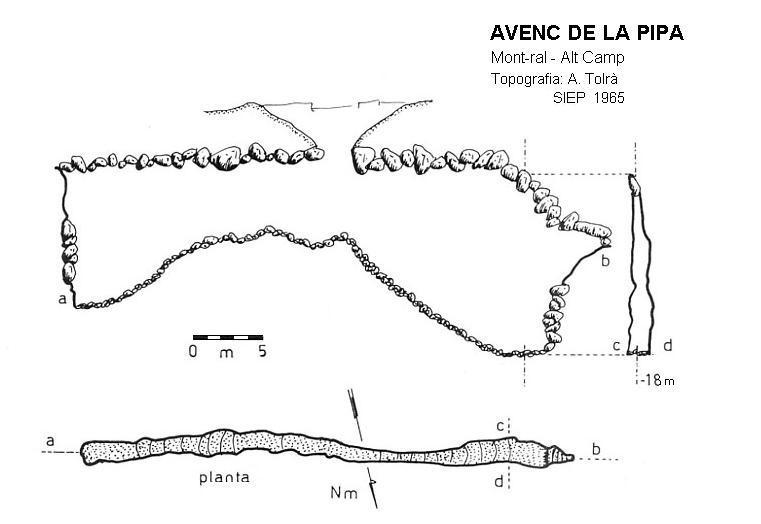 topo Avenc de la Pipa