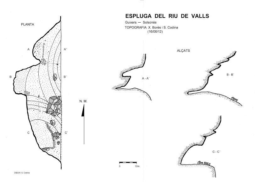 topo Espluga de Riu de Valls