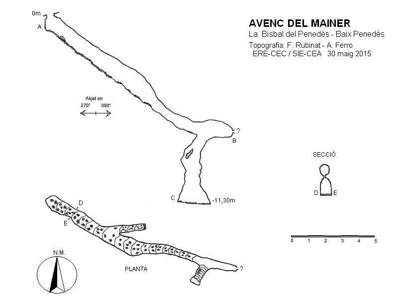 topo Avenc del Mainer