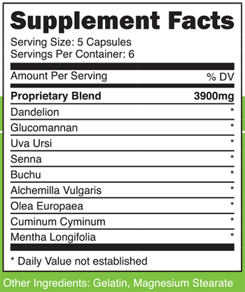 Advantage Nutraceuticals 72 Hour Slimming Pill SuppFacts
