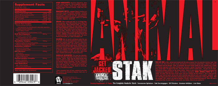 Animal Stak - by Universal Nutrition + FREE Ship!