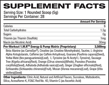 BPI Sports 1.M.R Supplement Facts