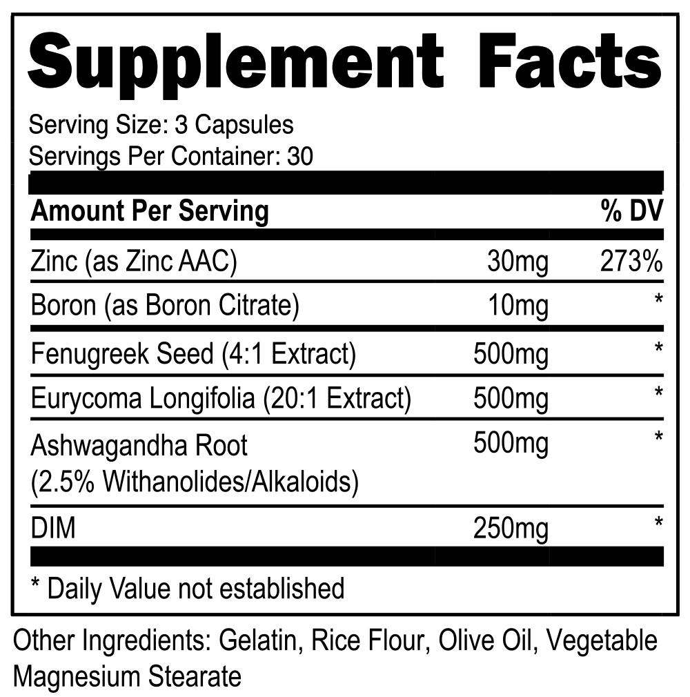 Advantage Nutraceuticals Alpha-T1 SuppFacts