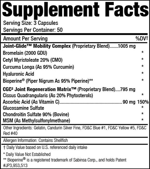Applied Nutriceuticals Osteo-Sport SuppFacts