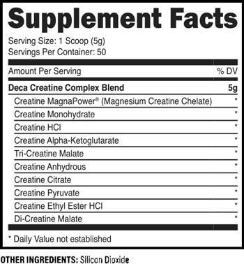 XPI Decacor Creatine SuppFacts