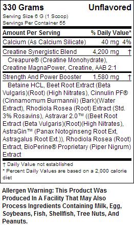 Top Secret Nutrition SuppFacts