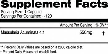 AI Sports Nutrition Massularia Supplement Facts