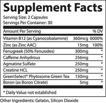 TestoRipped Supplement Facts