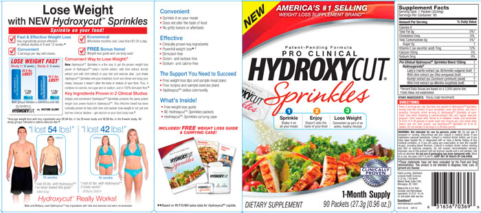 Hydroxycut Sprinkles Over 69 Free Shipping