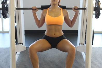 Best squat workouts for women- frog squat