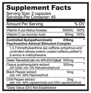 Purus Labs Fat Smack XR Supplement Facts