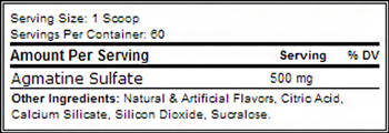 Agmatine Sulfate SuppFacts