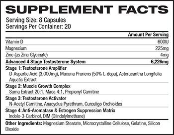 MusclePharm Hybrid Series Battle Fuel XT Supplement Facts