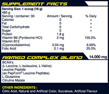 PRIMALTEIN ARMED SuppFacts