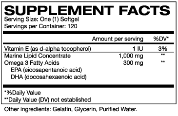 OMEGA3 SuppFacts