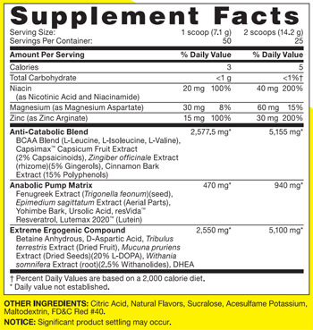 GNC REBEL SuppFacts