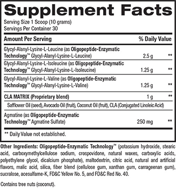 BPI Sports Best BCAA Supplement Facts