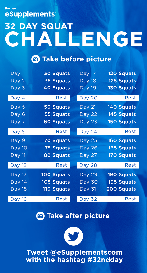 32-Day Squat Challenge