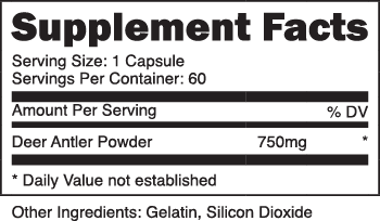 Deer Antler Velvet Extract SuppFacts
