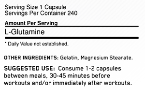 Optimum Nutrition Glutamine Capsules