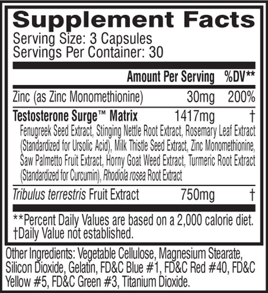 eSupplements.com Intercept Supplement Facts