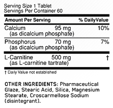 L-Carnitine SuppFacts