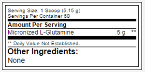 Glutamine DNA SuppFacts