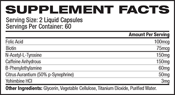 Nutrex Research Lipo-6 Hers Supplement Facts