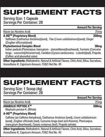 BPI Sports A-HD Supplement Facts