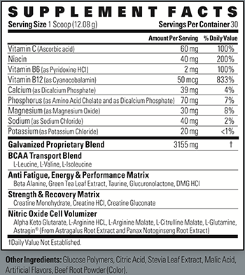 High Energy Labs Galvanized N.O. Supplement Facts